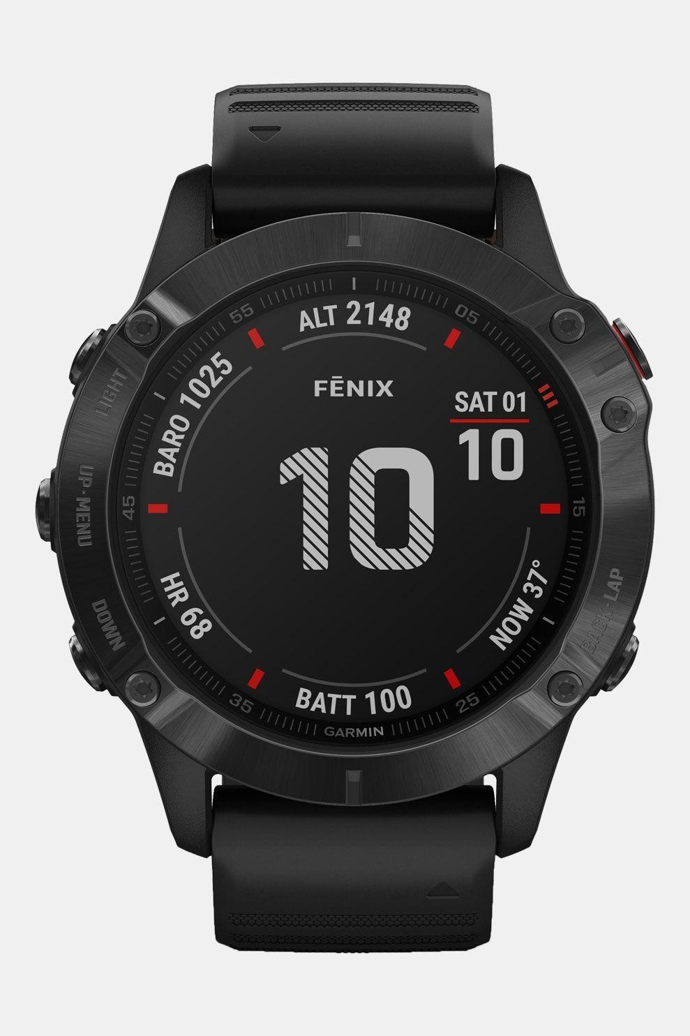 Garmin Fenix 6X Pro Smartwatch Donkergrijs/Zwart