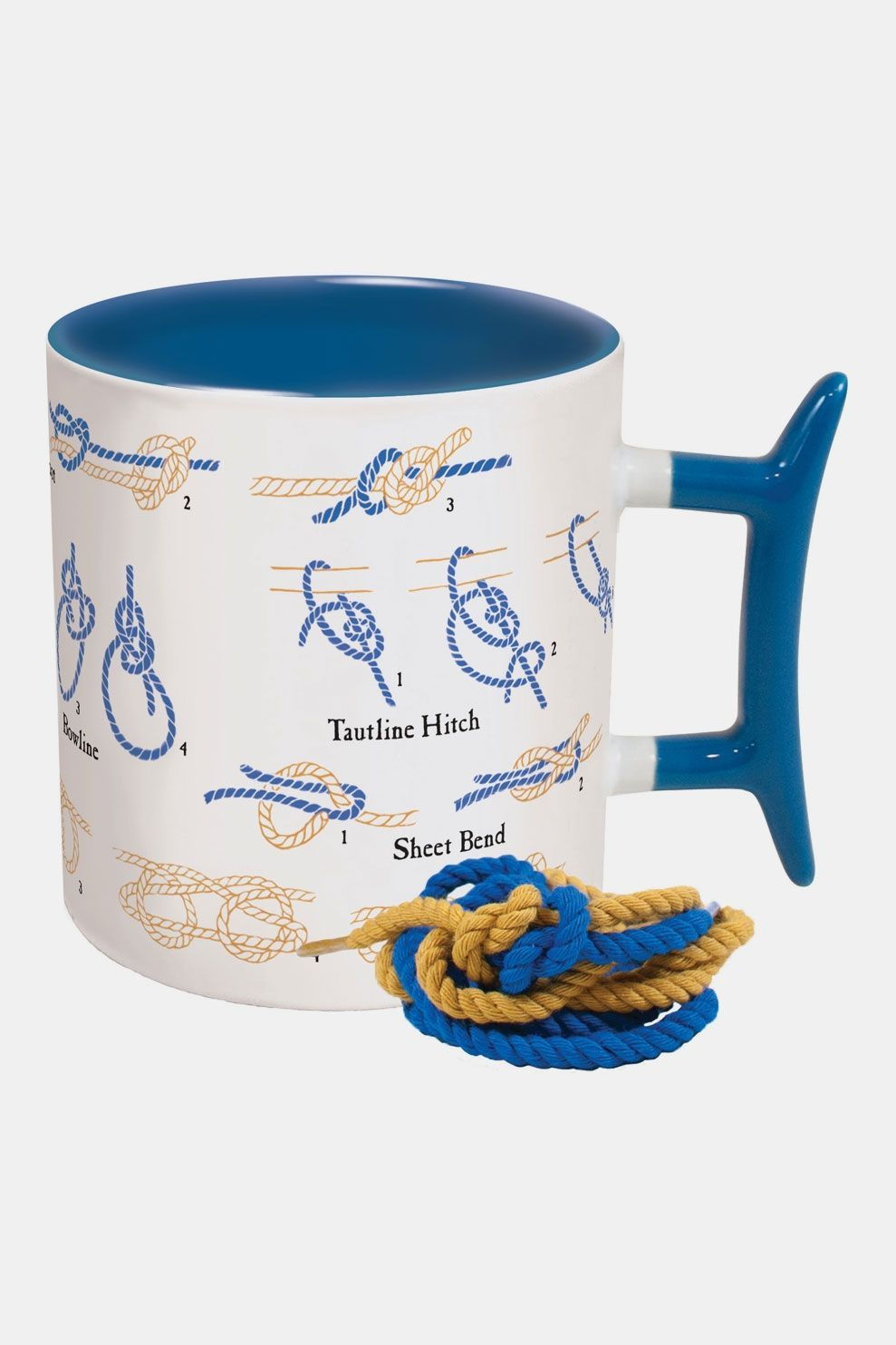 Unemployed Philosophers Guild How to: Knots Mok Wit/Blauw
