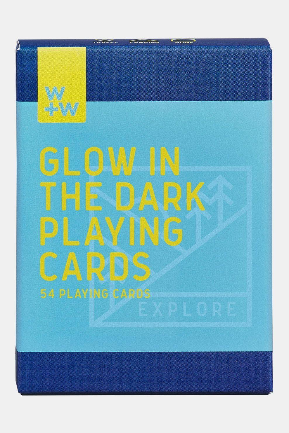 Wild & Wolf Glow in the Dark Kaartspel Lichtblauw/Blauw