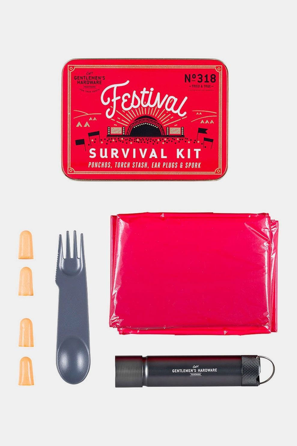 Wild & Wolf Festival Survival Kit Rood