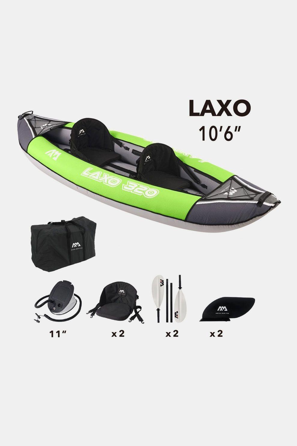 Aqua Marina Kayak Laxo 320 Middengrijs/Groen