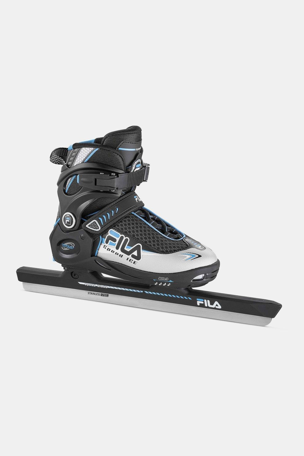 Fila Wizy Ice Speed Schaats Zwart/Blauw