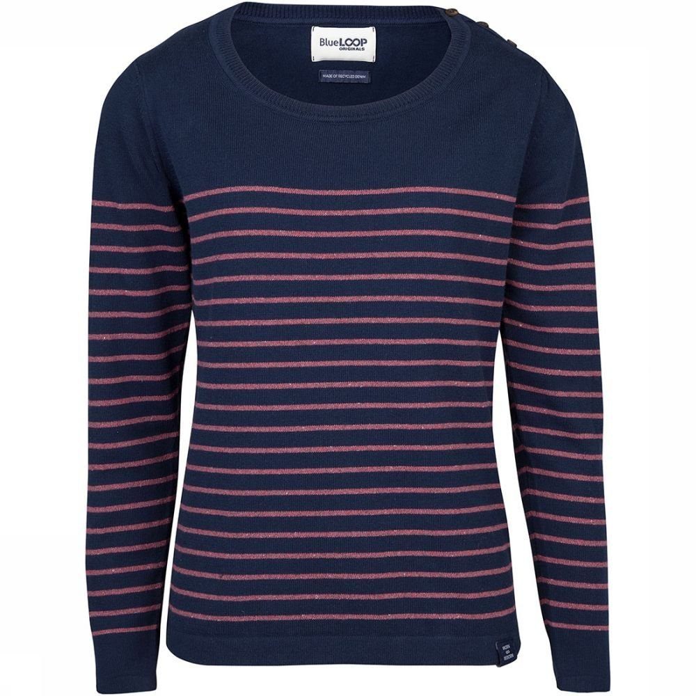 Afbeelding van Blue Loop Originals Perfect Breton Trui Dames Rood