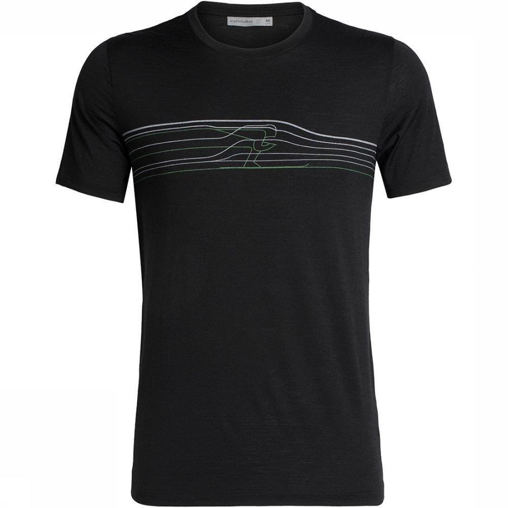 Afbeelding van Icebreaker Tech Lite Short Sleeve Crewe Ski Racer T-shirt Zwart Heren