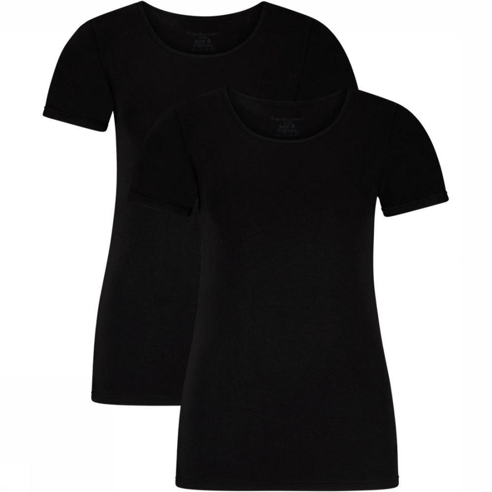 Afbeelding van Bamboo Basics Kate T-shirt 2-Pack Zwart