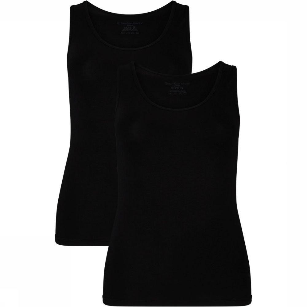 Afbeelding van Bamboo Basics Anna Hemd 2-Pack Dames Zwart