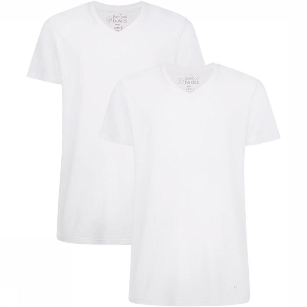Afbeelding van Bamboo Basics Velo 2-Pack Shirt Wit