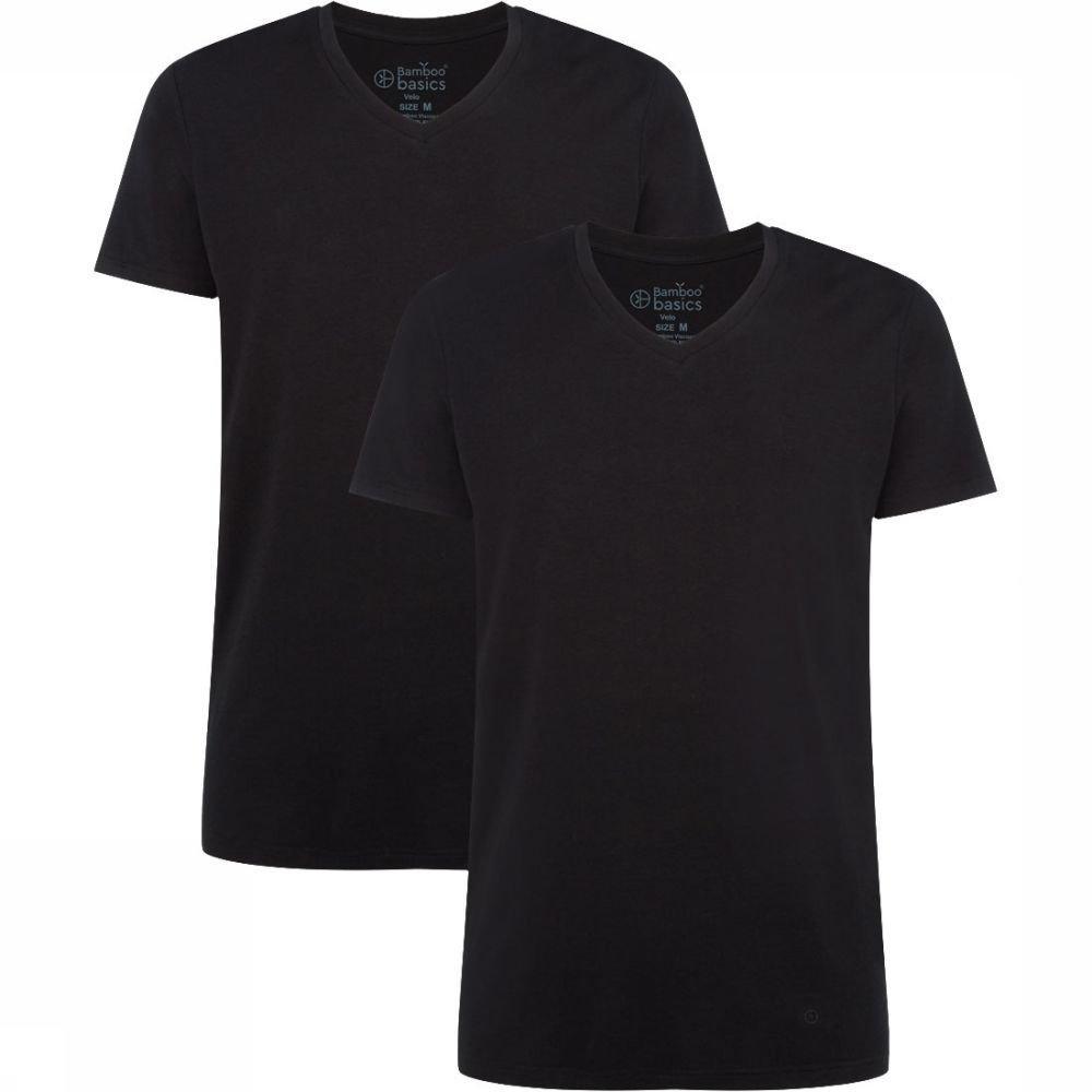 Afbeelding van Bamboo Basics Velo T-Shirt 2-Pack Zwart